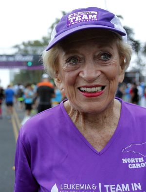 92-year-old cancer survivor becomes world's oldest woman to finish a marathon