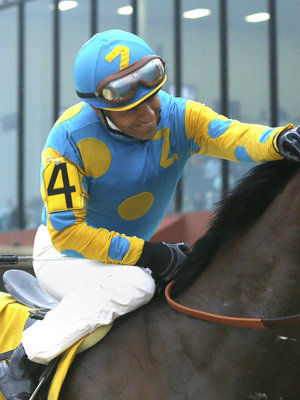 Jockey Victor Espinoza rode American Pharaoh during this year's Triple Crown races.
