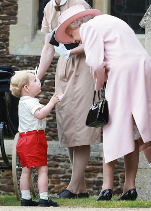 Adorable Prince George caught in video interacting with 'Granny,' Queen of England