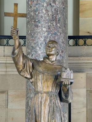 Statue of Blessed Father Junipero Serra safe - for now at U.S. capitol