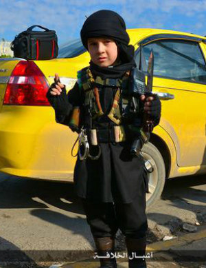 ISIS turns young boys into weapons.