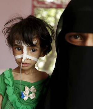 STARVATION: One in two families in Yemen has no idea where their next meal is coming from
