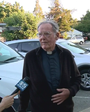 89-year-old priest beaten with own cane outside church for no apparent reason
