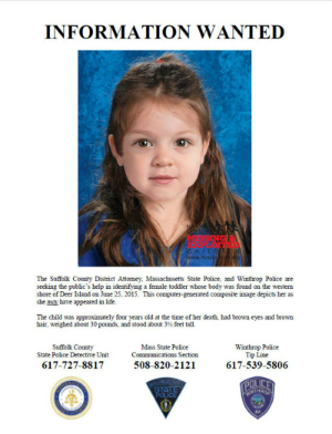 Who is four-year-old 'Baby Doe'? Police continue to search for dead girl's real identity