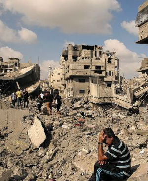 Catholic relief Services roll up their sleeves to help rebuild Gaza