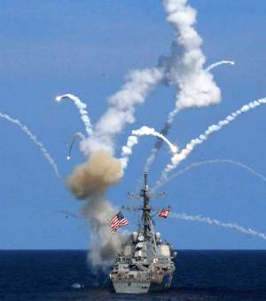 U.S. destroyer's missile malfunctions, explodes on ship