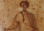 Image of Thankfully, beautiful examples of early works of Christian art remain preserved in the Christian catacombs in Rome.