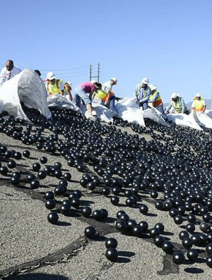 Great Balls of Plastic: How plastic balls may be the answer to California's drought problem