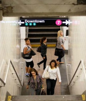 People melting in NYC's heated subway stations