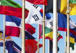 Image of Only member states' flags are currently eligible to fly at U.N. headquarters.