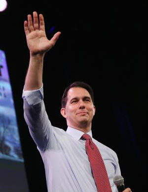 Trumped - by Trump: Candidate Scott Walker faces heavy competition in Iowa from billionaire