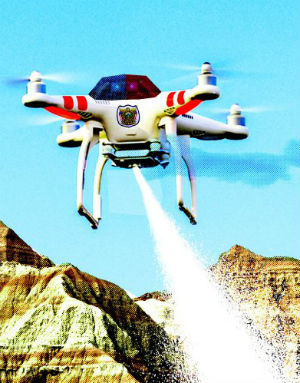 Now legal for police to fly drones armed with weapons in North Dakota
