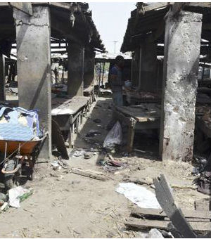 Fifty people killed in Nigerian market bombing