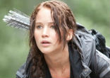 Image of Twenty-five-year-old Jennifer Lawrence, who plays heroine Katniss Everdeen in the
