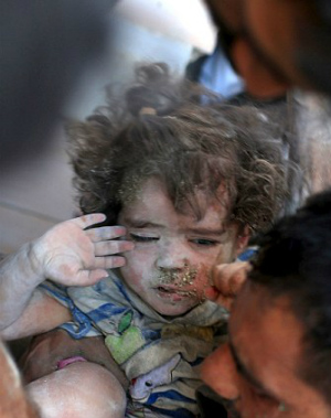 Syrian toddler found alive under rubble of bombed home