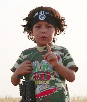 ISIS HORRORS: Four-year-old Yazidi boy forced into ISIS and given sword to decapitate his mother