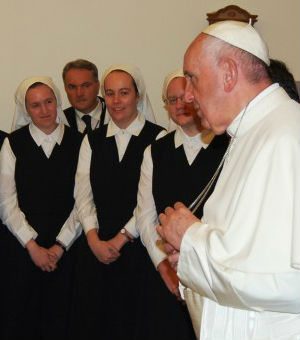 Surprise visit by Pope at Little Sisters of the Poor seen as show of support