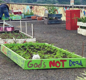 Homeless grow large garden for food in Atlanta