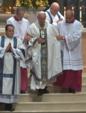 Pope Francis speaks for today's youth at Mass delivered at the Cathedral Basilica of Saints Peter and Paul