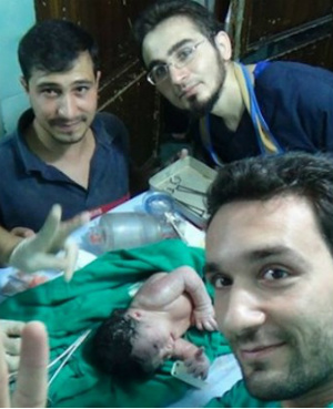 Syrian explosion horrifically sends shrapnel into pregnant mother's unborn baby