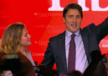 Image of Leading the Liberal party to a sweeping victory on many sides, Justin Trudeau will be Canada's new prime minister.