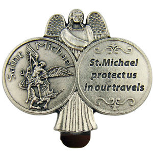 St. Michael Guardian Angel Travel Protection Clip (Catholic).