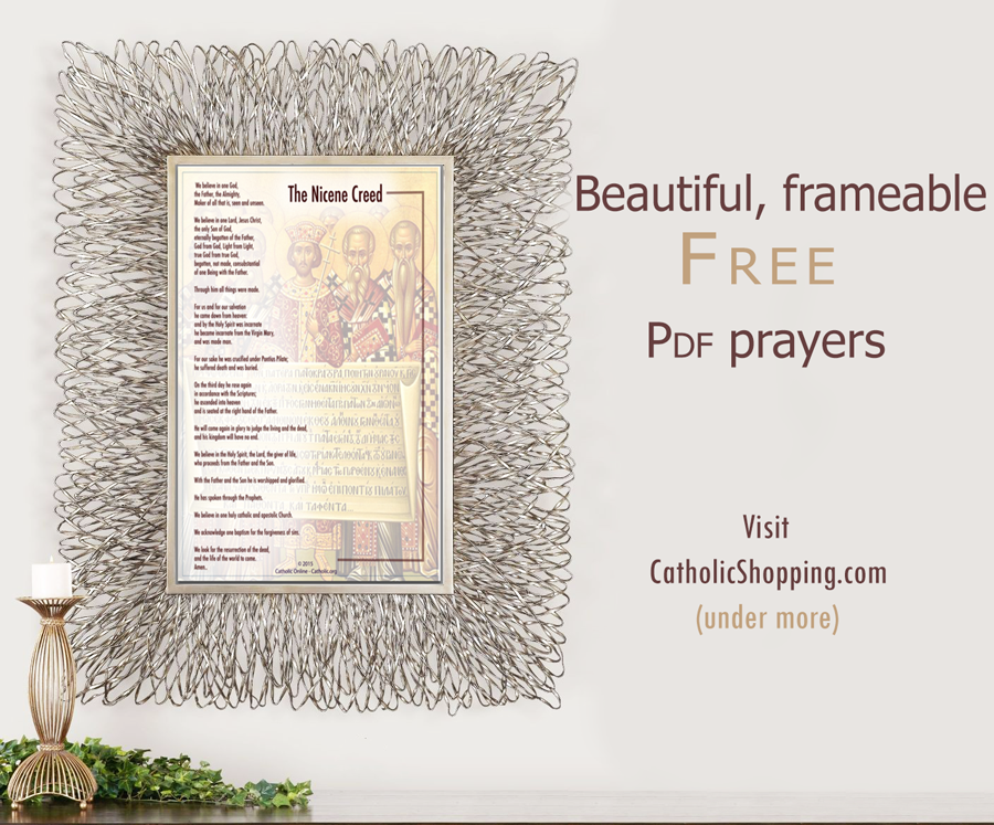 Catholic Online invites you to download your beautiful FREE PDF Prayer