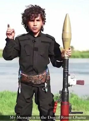 New ISIS video features a 'cub of the caliphate' directly threaten US President Barack Obama
