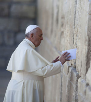The occasion was marked by the anniversary of the 1965 declaration Nostra Aetate, which condemned anti-Semitism and paved the way for a new, constructive working relationship between Jews and Catholics. (Pope Francis at the Wailing Wall)