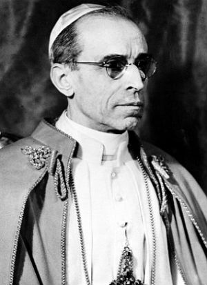 Pope Pius XII helped plan a course to kill Hitler (AP).