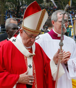Pope Francis tells Ugandans to remember their saints and to live by their example