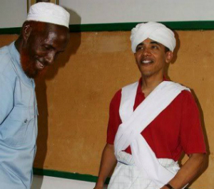 Obama participated in Muslim education and ceremonies. It's a stretch to think he is free of the Muslim label.