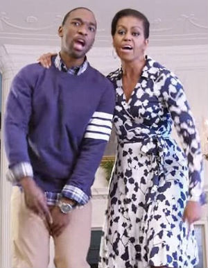 First Lady and SNL's Jay Pharoah create rap video promoting higher education