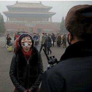 APOCALYPTIC AIR: Pollution in Beijing at unprecedented levels - but does not stop Chinese from making a joke, or two