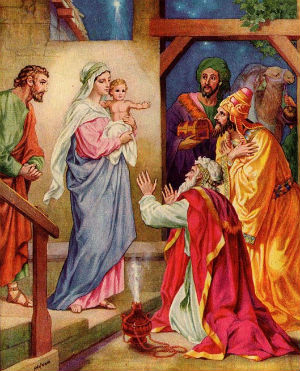 The Epiphany refers to the night of Jesus' birth, when the three wise kings pay him a visit (SpiritualDirection).