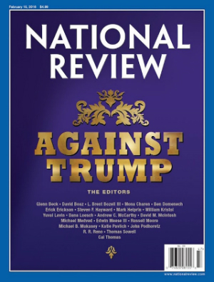National Review, you're self-serving, pathetic and the truth is nobody reads or even cares about you anymore. 'America' cancel your subscription!