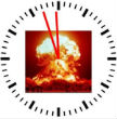 Image of Doomsday Clock is currently set three minutes to 12.