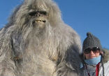 Image of Among the most elusive of all crypto-zoological creatures, the Abominable Snowman has had several eyewitness accounts. Some Russian fans here pose with an elaborate mock-up of the snowy creature (Lenta).
