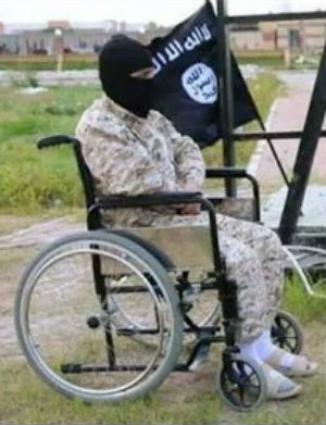 Disabled jihadi executes 'spy' in new horrific ISIS images