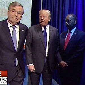 CURTAIN CALLED: GOP debate starts hilariously as candidates fail to appear on cue