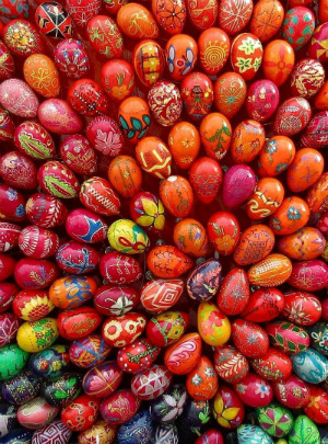 Pysanky eggs, are an exquisite Ukrainian and Polish tradition of decorating for Easter.