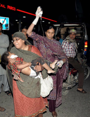 WORLD WAR ISLAM - Suicide bomber targets Christian children in Pakistan, 72 dead