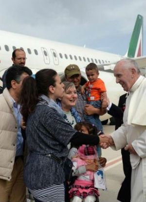'No Muslim leader has done what he has done:' Pope Francis returns to Vatican with 12 migrants