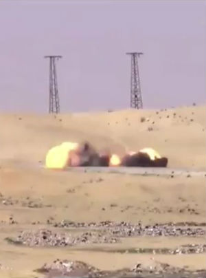 Mad Max style missile strike destroys ISIS suicide bomb truck