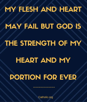 Your Daily Inspirational Meme: God is the strength of my heart