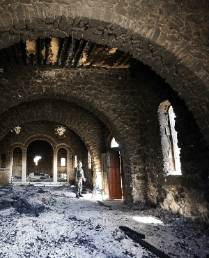 Ancient saint's bones discovered in ISIS' destruction of monastery