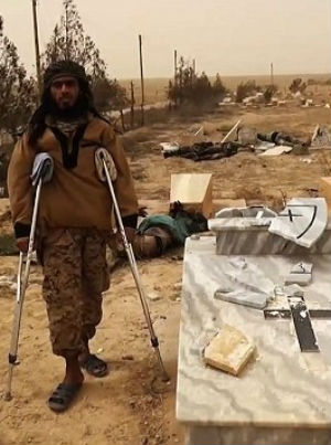 ISIS desecrates Christian headstones