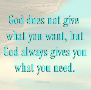 Your Daily Inspirational Meme: He always gives you what you need