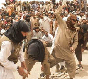 SKULLS CRUSHED: ISIS stones four men to death for adultery