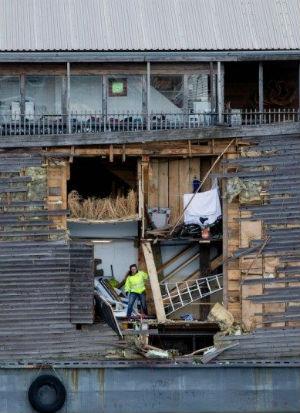 Noah's Ark replica crashes into Coast Guard vessel